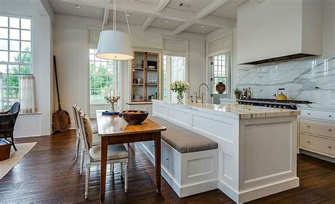 bench for kitchen island beautiful kitchen islands with bench seating designing idea