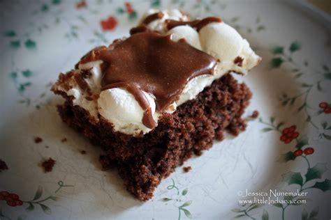 best dessert recipes chocolate marshmallow cake bars paperblog