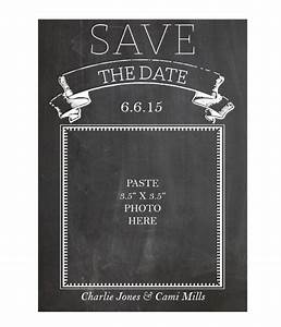 free printable chalkboard save the date cards printable With save the date powerpoint template