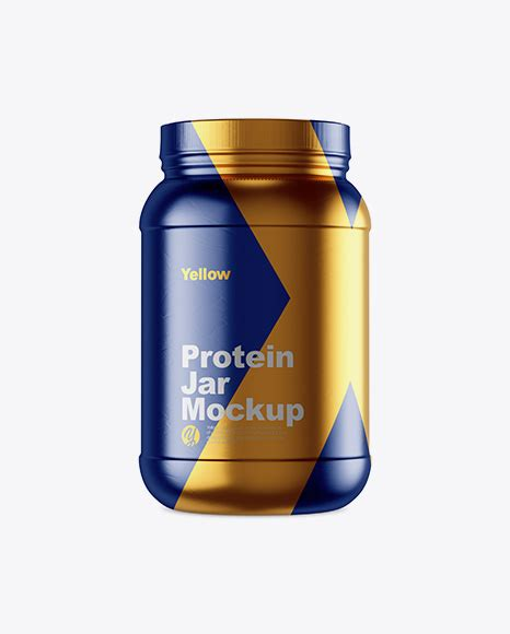This mockup is available for purchase on yellow images only. 2lb Protein Jar in Glossy Shrink Sleeve Mockup - 5lb ...