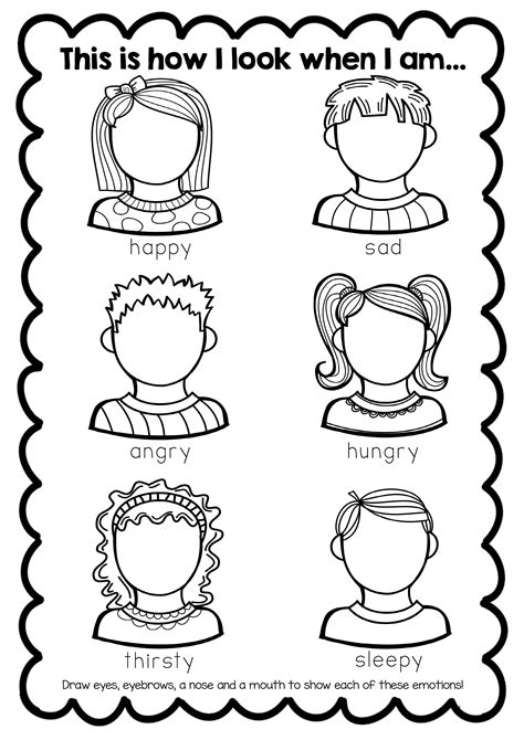 feelings worksheet teaching emotions feelings