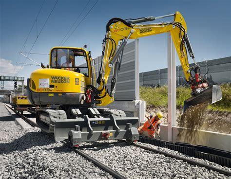 wacker neuson  railway und bh rw gleisstopfer innotrans  messen ausstellungen