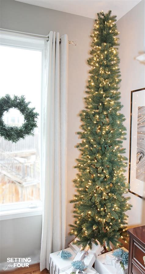 pencil christmas tree style  narrow spaces setting