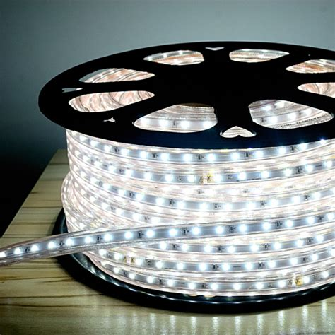 cool white led rope light 120v outdoor lighting