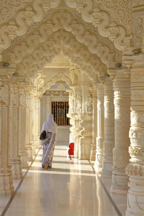 woman   jain temple editorial photo image  door