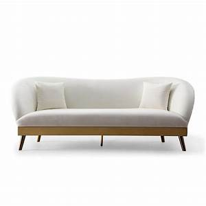 Tatiana curved blue velvet sofa for Gold velvet sectional sofa