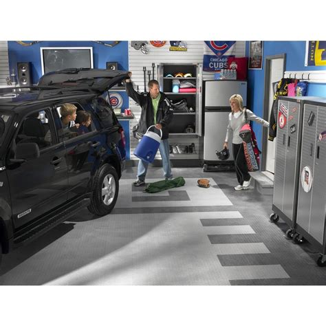 Gladiator Garage Roll Flooring by Charcoal Floor Tile 4 Pack Gladiator 174