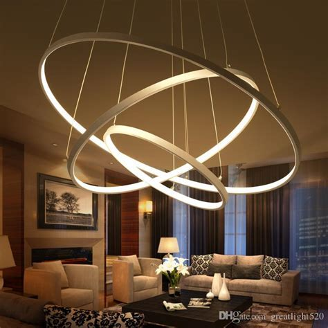 Modern Circular Ring Pendant Lights 3/2/1 Circle Rings