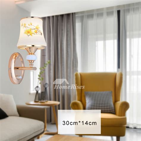 wall light fixture for bedroom mounted decorative 2 light