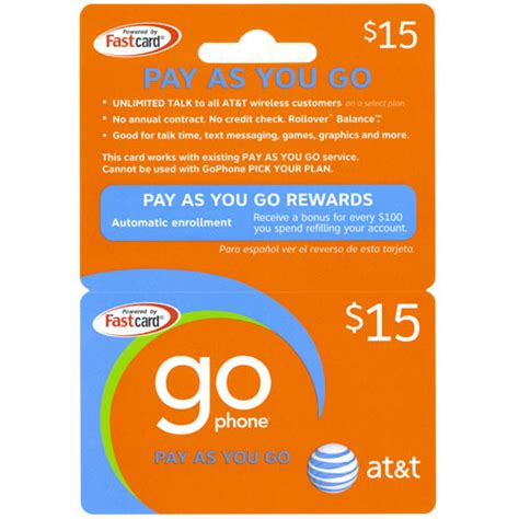 att go phone refill free 15 at t go phone pay as you go prepaid cellphone