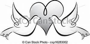 Dessin Couple Mariage Noir Et Blanc : blanc noir couple colombes forme coeur contre ~ Melissatoandfro.com Idées de Décoration