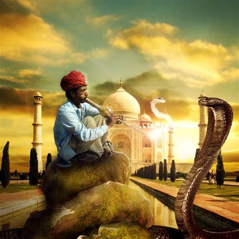 Photo Manipulate An Exotic Snake Charming Scene Psdfan