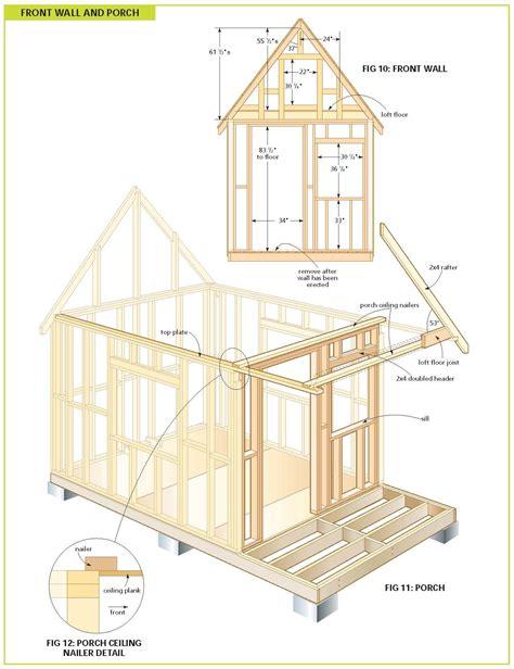 cottage floor plans free wood cabin plans free cabin floor plans free bunkie plans