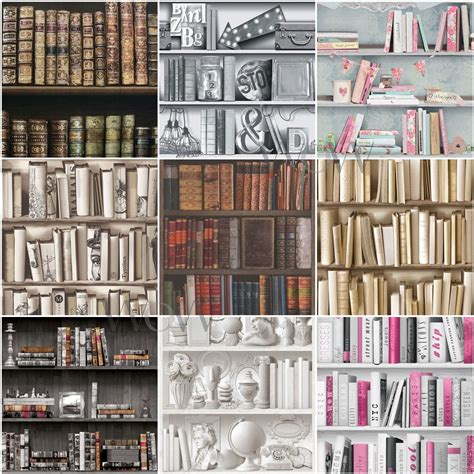 Wallpaper Bookcase Design by Bookcase Pattern Wallpaper White Feature Wall