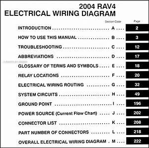 2004 Toyota Rav4 Wiring Diagram Manual Original