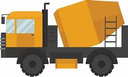 Vector Cement Truck Concrete Mixer Construction Machine