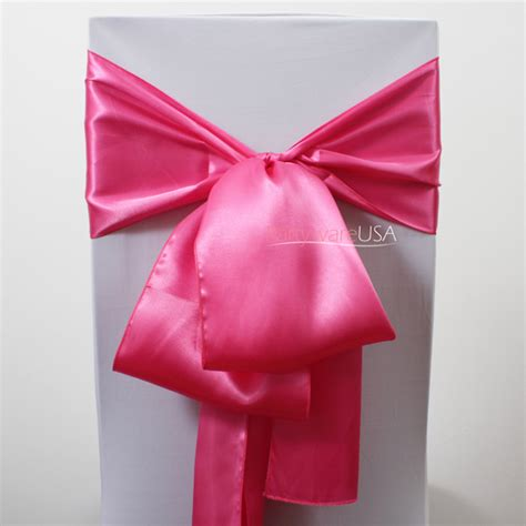 pink satin chair sashes 7 day delivery