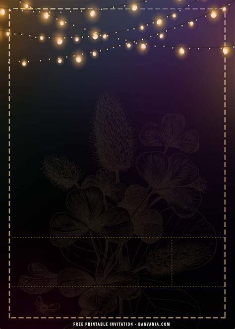 (FREE Printable) Black And Gold Sparkle Invitation