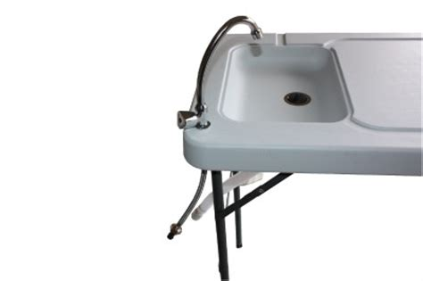 portable cing sink table newport portable cing table with sink faucet