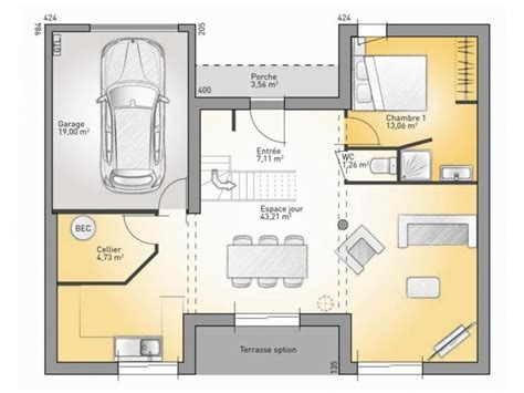 plan maison 3 chambres etage 24 best images about maisons modernes on