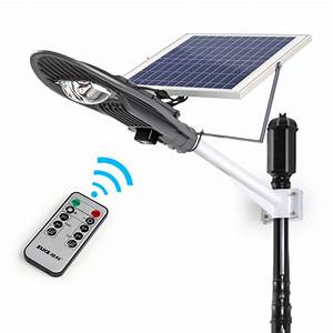 20w remote control solar powered panel led street light With outdoor solar lights with remote panel