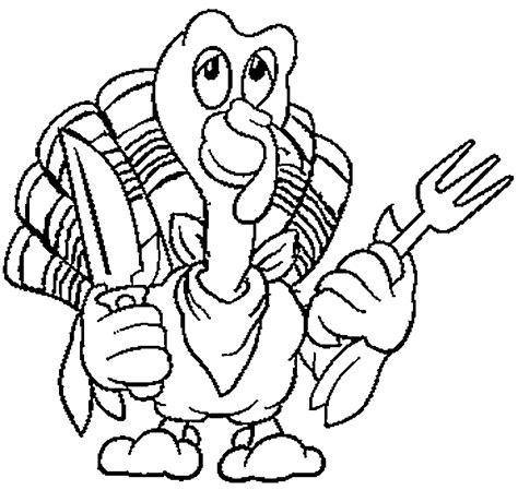 cooked turkey drawing coloring home