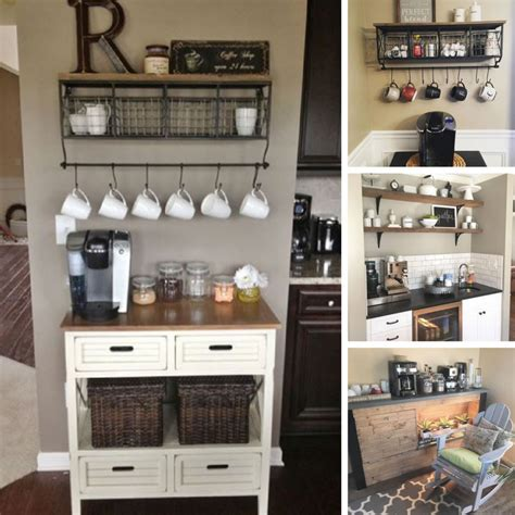 Many people rely on these drinks, wakes up in the morning hot drinks are also a welcome drink for most types of events of coffee station organizer. 38 Coffee Station Ideas: Coffee Bar Hacks and Re-purposing Ideas