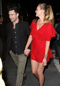 Adam Levine And Anne Vyalitsyna Out For Dinner At Madeo ...