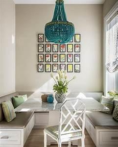 Wandbilder Für Küche Und Esszimmer : sitzecke in der k che hell einrichtung weiss grau marmor tisch wandbilder ideen f r die k che ~ Orissabook.com Haus und Dekorationen