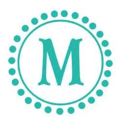 Polka Dot Circle Monogram Decal