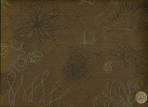 Modern Upholstery by Woven Scribble Chestnut Brown Modern Contemporary