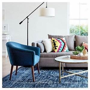 Pendant floor lamp antique bronze thresholdtm havenly for Floor lamp placement in living room