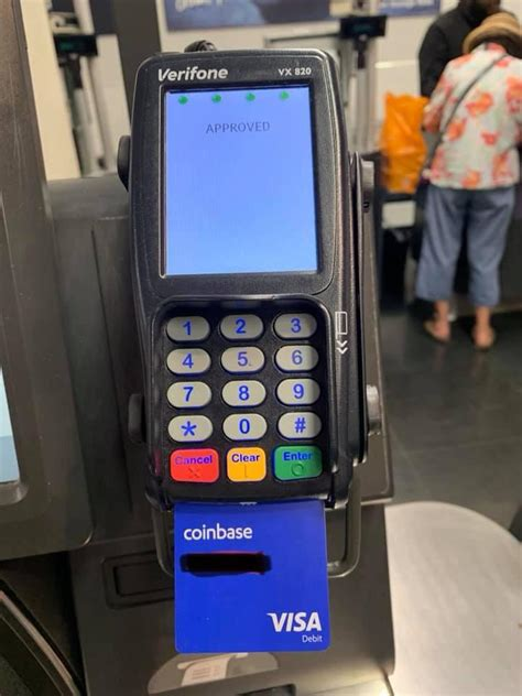You should now see a window that says credit card added and a buy digital currency button; Coinbase debit card in action (on Verifone terminals) : Graft