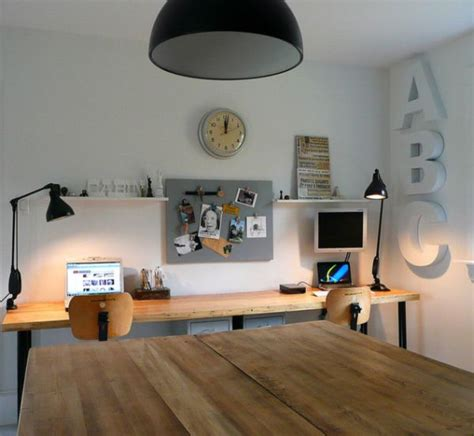 A Small Industrial Apartment With A Home Office Blue Decor by Industrial Home Office Designs For A Simple And
