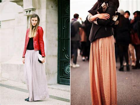 comment porter une jupe longue en hiver jupes longues les jupes et tr 232 s