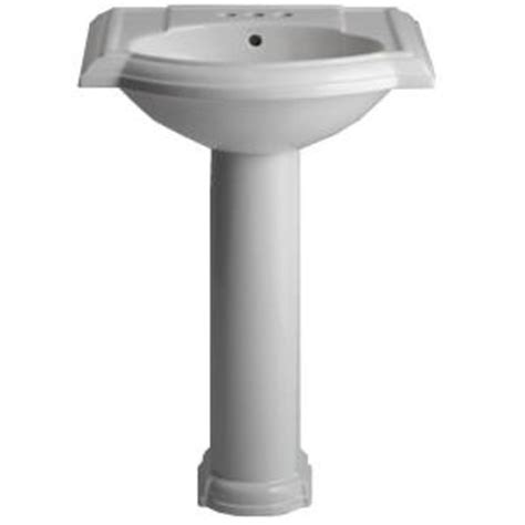 Pedestal Sinks Home Depot by Kohler Devonshire Pedestal Combo Bathroom Sink In White K