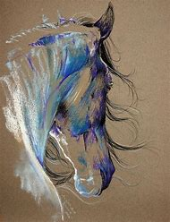 Oil Pastel Horse Drawings