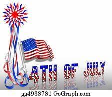 Stock Illustrations - Patriotic border stars and stripes ...