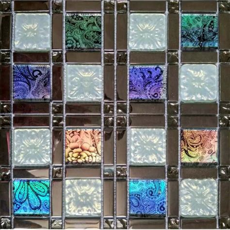 iridescent tiles backsplash uk iridescent glass tile mosaic