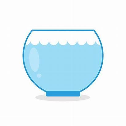 Fish Empty Clipart Aquarium Tank Bowl Clip