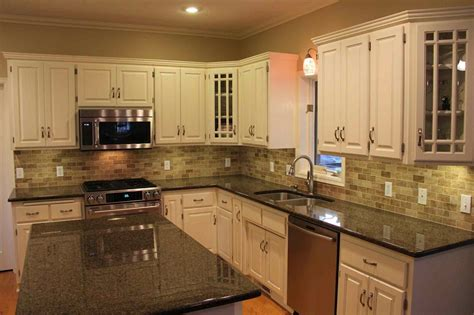 ideas for kitchen countertops and backsplashes contemporary tile backsplash ideas counter black and