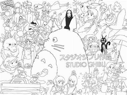 Ghibli Coloring Studio Myself Pages Castle Traced