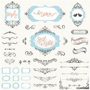 quotvintage wedding frames flourishes elements calligraphy With hand lettering ornaments