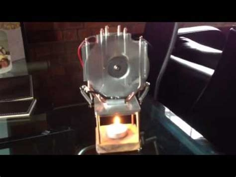 thermoelectric fan powered by a candle thermoelectric generator powered by candle youtube