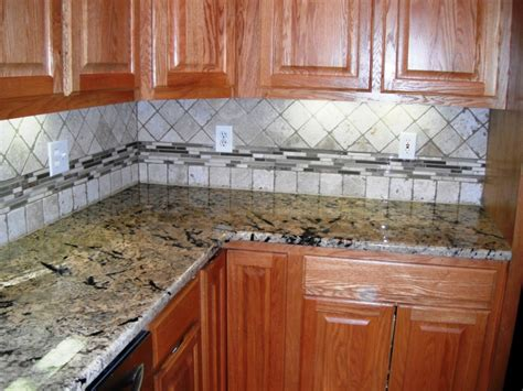 traditional kitchen backsplash ideas 4x4 travertine with glass border backsplash designs for