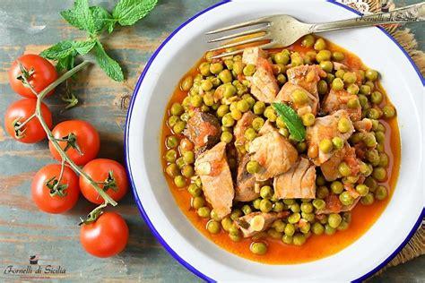 Come Cucinare Il Tonno Fresco Alla Siciliana Tonno Con Salsa Piselli E Menta Fornelli Di Sicilia