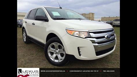 pre owned white  ford edge se fwd review athabasca