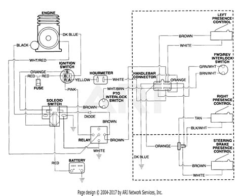 Electric Start Wiring Diagram by Gravely 985113 000101 2 Wheel Tractor 12hp 4 Sp
