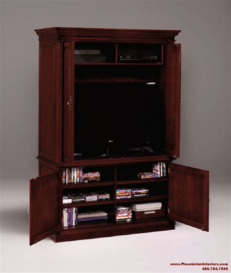 wood media cabinets entertainment center tv console stand media cabinet cherry 1147