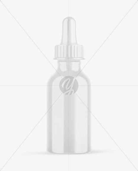 Simple edit with smart layers. Glossy Plastic Dropper Bottle Mockup in Bottle Mockups on ...